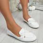 Pinga White Flat Ballerinas