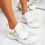 Grinna Beige Chunky Sneakers