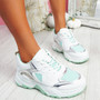 Grinna Green Chunky Sneakers