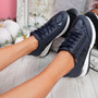 Joky Blue Wedge Trainers