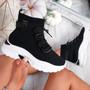 Jodda Black Sock Chunky Sneakers