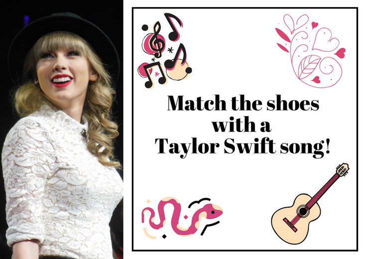 Match the shoes with a Taylor Swift song!