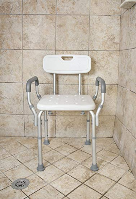 Bath Bench with Arms and Back Deluxe