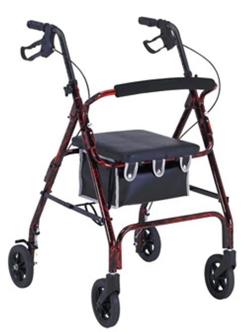 4 Wheeled Walker with Padded Seat