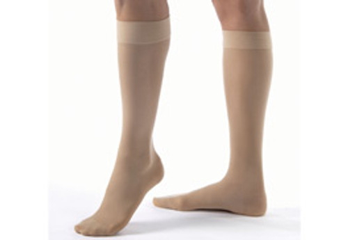Anti-Embolism Closed Toe Beige Knee Hi Stocking 18 mmHg