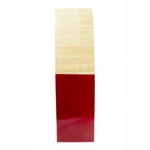 """6'.75"""" X 6'.75"""" X 24"""" Natural Wood Bamboo Vase with Tones - 328650"""