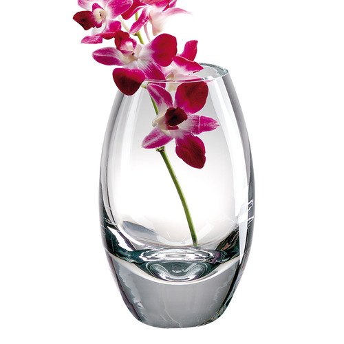 """10.5"""" Mouth Blown Crystal European Made Crystal Vase"""