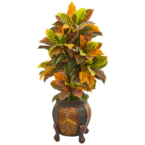 """44"""" Croton Artificial Plant in Decorative Planter(Real Touch)"""
