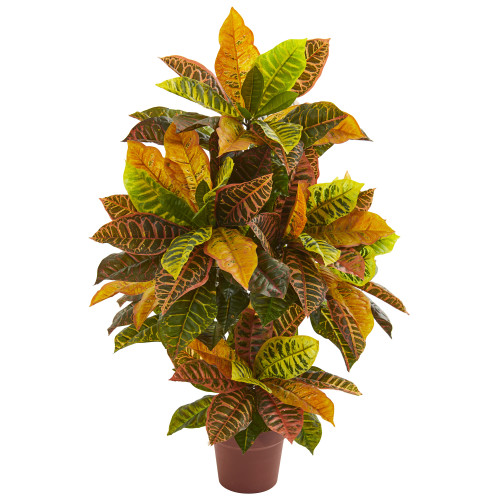 """39"""" Croton Artificial Plant (Real Touch)"""
