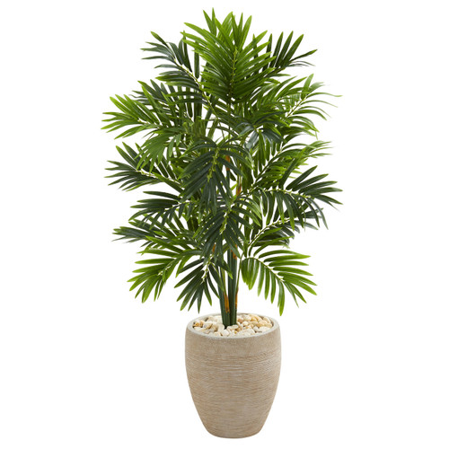 4' Areca Artificial Palm Tree in Sand Colored Planter