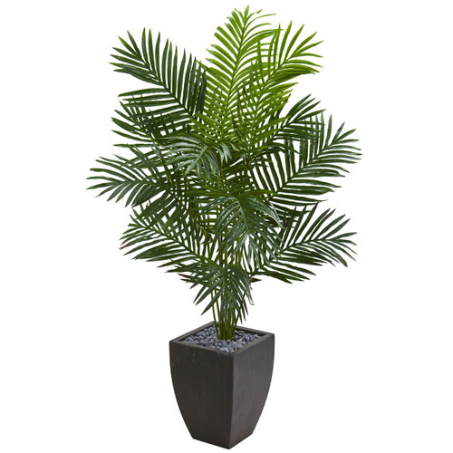 5.5' Paradise Artificial Palm Tree in Black Planter