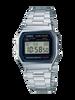 Casio Digital Stainless Steel Daily Alarm A158WA-1DF