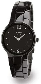 Boccia Black Ceramic Ladies watch 3200-02