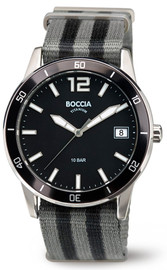 Boccia Titanium Sports Watch With Nato Strap 3594-01
