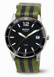 Boccia Titanium Sports Watch With Nato Strap 3594-02