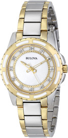 Bulova Diamond Accent with Mother of Pearl Dial 98P140