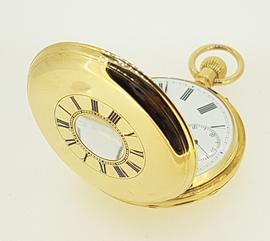 Vintage E & E Emanuel Demi Hunter Gold Pocket Watch c.1880's