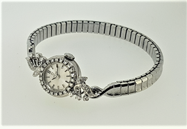 Vintage Omega 18ct White Gold, Diamond Set, c.1965