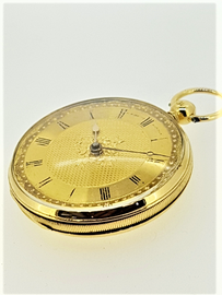 Antique Dent 18ct Gold fusee pocket watch, with original box