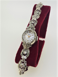 Vintage Hafis Marcasite Cocktail Watch With Original Box c.1950's SOLD