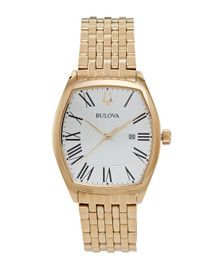 Bulova Ladies Classic Collection Watch with Tonneau-Shaped Case 97M116