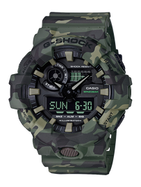 Casio G-Shock Camouflage Khaki Analog-Digital Watch GA-700CM-3A