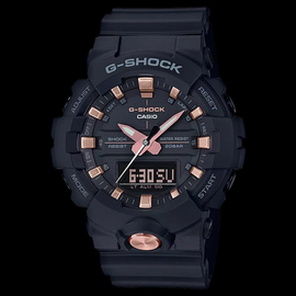 Casio G-Shock Black with Rose Gold Toned Accents GA-810B-1A4
