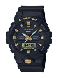 Casio G-Shock Black with Yellow Gold Toned Accents GA-810B-1A9