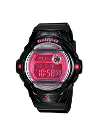 Casio Baby-G Black Digital Watch with Pink Dial BG-169R-1B