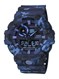 Casio G-Shock Camouflage Blue Analog-Digital Watch GA-700CM-2A