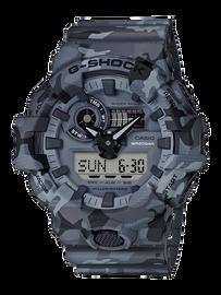 Casio G-Shock Camouflage Grey Analog-Digital Watch GA-700CM-8A