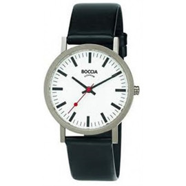 Boccia Black and White Titanium Watch 521-03