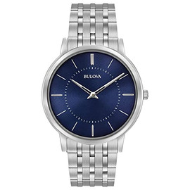 Bulova Ultra-Slim Watch with Blue Dial 96A188