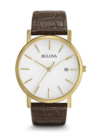 Bulova Gold Tone Dress Watch 97B100