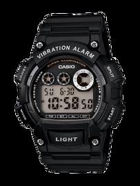 Casio Black Digital Watch with Vibrating Alarm W-735H-1A