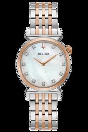 Bulova Regatta  White Mother of Pearl Diamond Watch 98P192