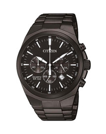 Citizen Gents Black Chronograph Quartz Watch AN8175-55E