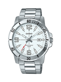 Casio Stainless Steel Analog Watch MTPVD01D-7B