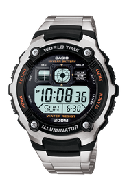 Casio Black & Stainless Steel Digital AE-2000WD-1A