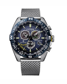 Gents Stainless Steel Citizen Eco-Drive Blue Angels Chrono  CB5848-57L