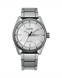Gents Stainless Steel Citizen Eco-Drive AW0080-57A