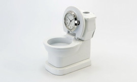 Collectable Toilet Clock with Business Card Holder  CC634WH SOLD