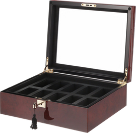 Savoy 10 Piece Burlwood Watch box 461610