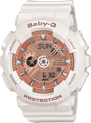 Casio Baby-G White with Metallic Pink Dial BA110-7A1