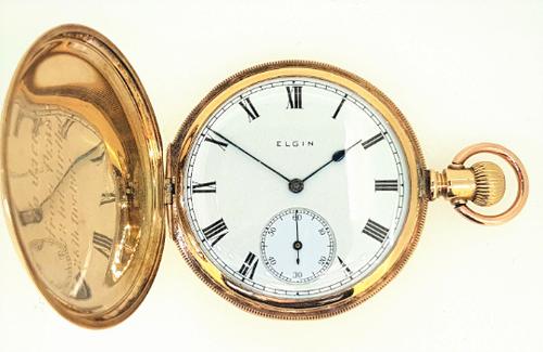 Elgin pocket watch c.1910 with 10k gold case