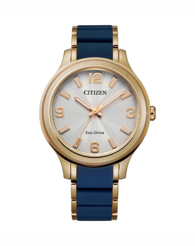 Ladies Citizen Yellow Gold Eco-Drive FE7078-93A