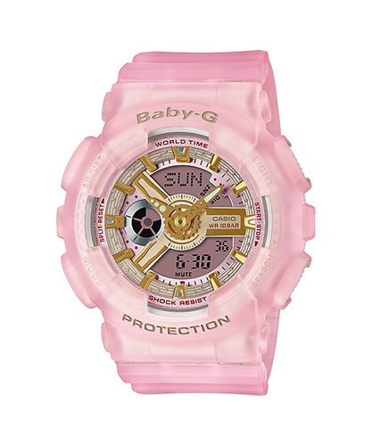 Casio Baby-G Duo Sea Glass Series Pink BA-110SC-4A