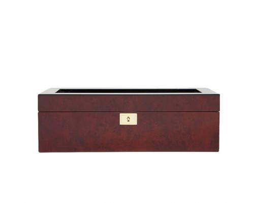 461510 Savoy 5 Piece Watch Box Brown Burlwood