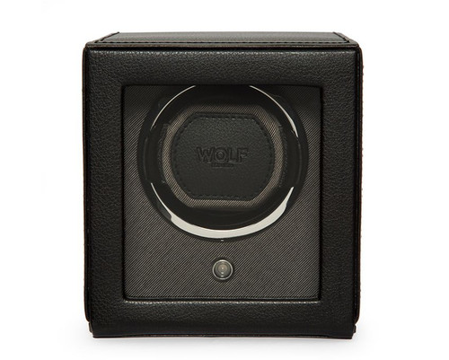 Wolf Cub Black Watch Winder with Cover  461103