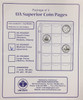 UA Superior Coin Pages - 63 Pocket Medium Coins (Quarters) (Package of 3)